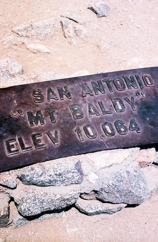 Mt. Baldy Plaque
