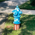 Red White And Bluye Hydrant